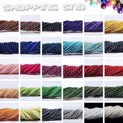 Beads - 100pcs Top Quality Czech Glass Pearl Round Beads 3mm 4mm 6mm 8mm 10mm 12mm 14mm