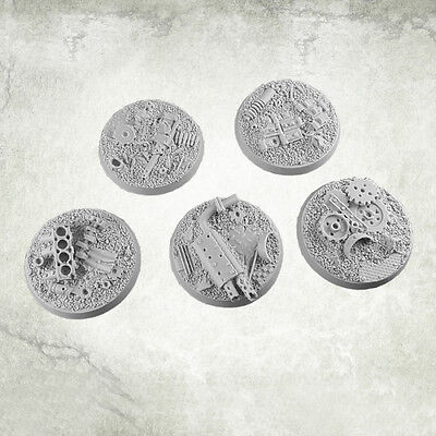 Junk City Bases 40mm Resin Rundbases (5) Kromlech KRRB040