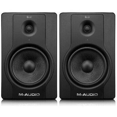 "M Audio BX8 D2 8""  2-Way Active Studio Monitor Speakers Black (Pair) + Warranty"