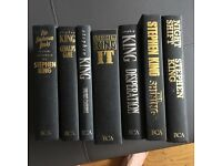 7 x STEPHEN KING BOOKS HARDBACK