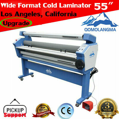 Usa 55 Full-auto Wide Format Cold Laminator Heat Assisted Laminating Machine
