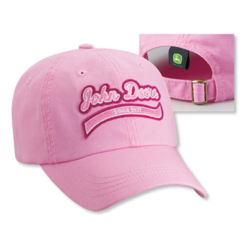 JOHN DEERE *PINK Since 1937* Ladies TWILL HAT CAP *BRAND NEW*