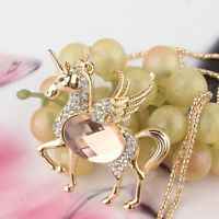 New Champagne Topaz Horse Necklace