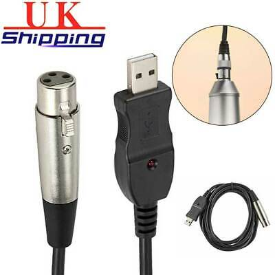 3m USB Male to 3-Pin XLR Female Microphone Studio Audio Mic Link Converter Cable
