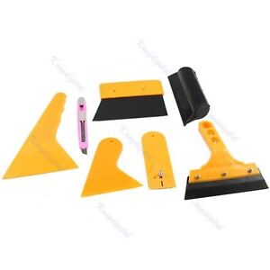 Deluxe Car Vehicle Window Vinyl Film Wrap Application Installation Tools Kit Set