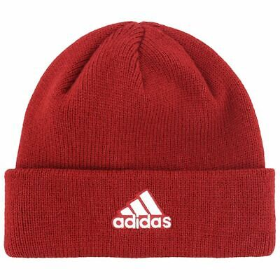 Adidas Red Climawarn Tempurature Regulation Mens Unisex Beanie Cap Hat NWT