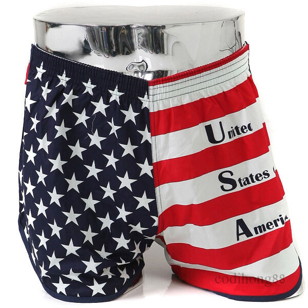 Hurrah for the flag of the free! These incredible American flag shorts allow you to wave the banner without tying up your hands-so you can celebrate your country with a frosty beverage in one hand and a BBQ spatula in the other.