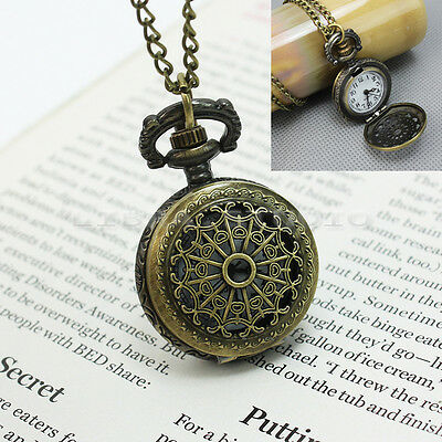 Kyпить Antique Retro Bronze Steampunk Quartz Pocket Watch Pendant Necklace Chain на еВаy.соm