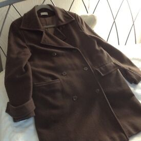 Great Winter Coat Chocolate Brown Wool & cashmere size 16 Weinberg