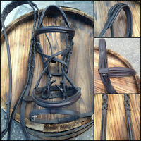 Chocolate Brown Leather Dressage Bridle.