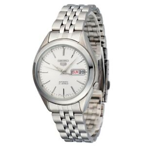 SEIKO 5 Automatic 21 Jewels White Dial Stainless Steel Men Watch