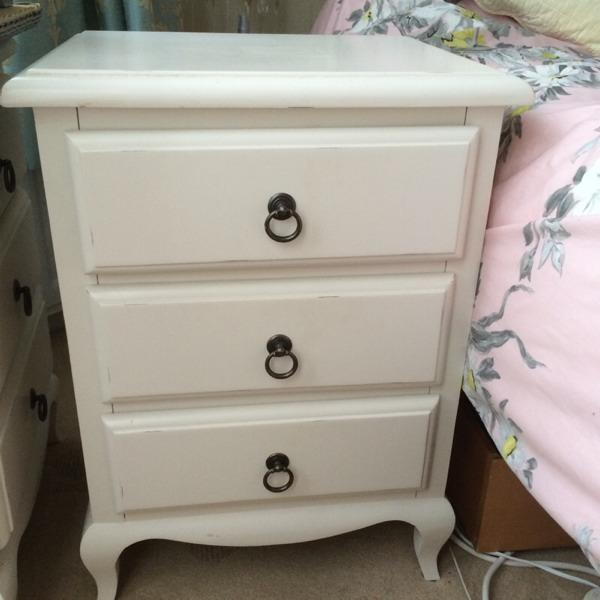dunelm mill florence bedside tables french style in. Black Bedroom Furniture Sets. Home Design Ideas