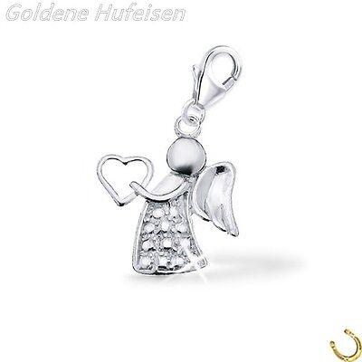 Engel Charm / Anhänger 925 Echt Silber Schutzengel Geschenkidee / ch-072