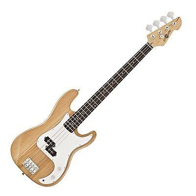 LA Bass Guitar by Gear4music Natural