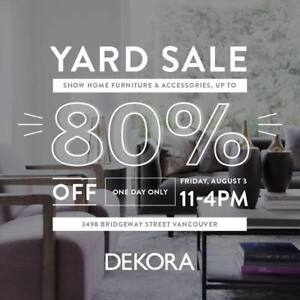 DEKORA STAGING WAREHOUSE SALE - ONE DAY ONLY!