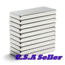 10pcs 20mm x 10mm x 2mm Strong Block Cube Rare Earth Neodymium Magnets N52