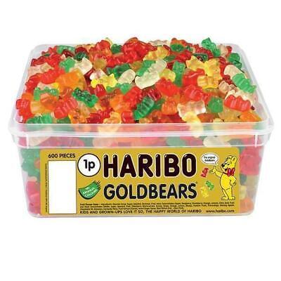 HARIBO Gold Bears 600 Per Tub