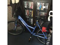 Ladies bike with toddler seat and stand