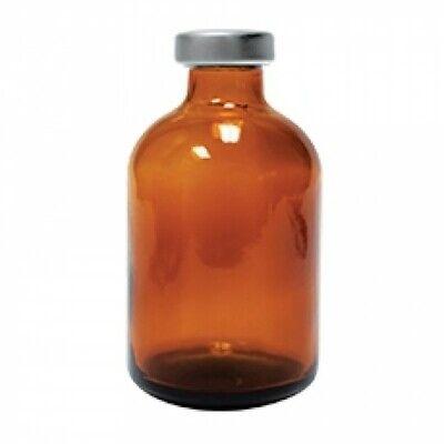 30ml Amber Serum Vial Silver Seals 10 Pack