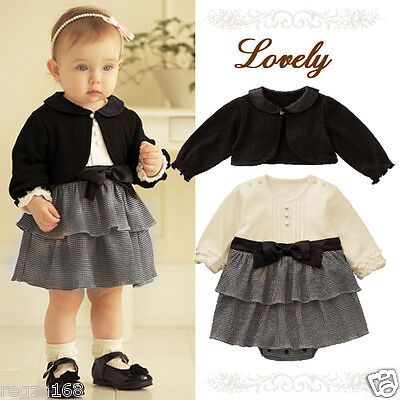 Baby Girl Formal Fancy Dress Outfit Christening Wedding Birthday Party Cardigan