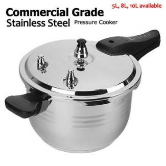 5L, 8L and 10L Commercial Grade Stainless Steel Pressure Cooker Melbourne CBD Melbourne City Preview