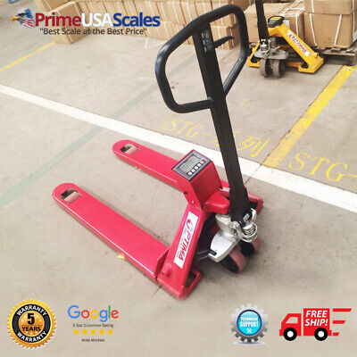 Op-918n-5000 Pallet Jack Scale Narrow 5000 Lb With 80 Hour Battery Life
