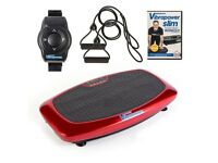 Vibrapower Slim 2 with Resistance Bands and Remote Control (red)