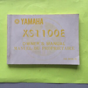 1978 Yamaha XS1100E Owners Manual Regina Regina Area image 1