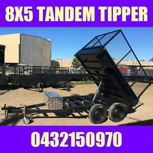 8x5 tandem box trailer hydraulic tipper trailer w cage Aus Made 10x5