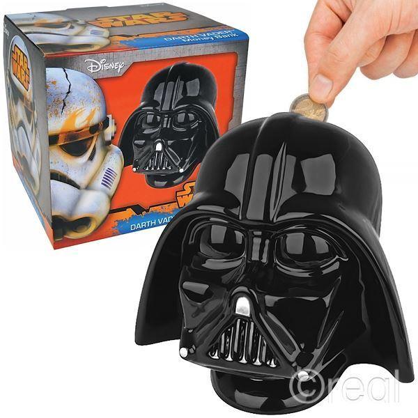 New Star Wars Ceramic Shaped Darth Vader Piggy Bank Money Box Official Licensed