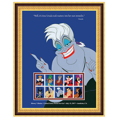 USPS New Disney Villains Ursula Framed Art