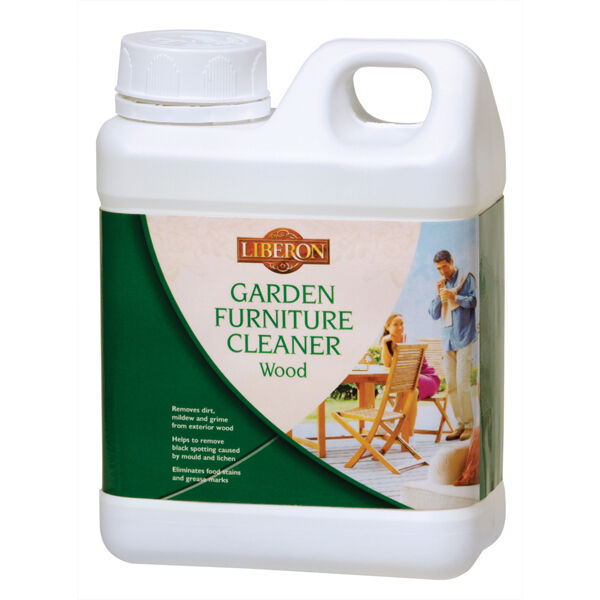 Liberon Wooden Garden Furniture Cleaner  1 Litre - Removes Dirt Mould and Mildew