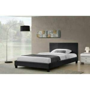 brand new white color queen ( or double ) size bed frame with mattress