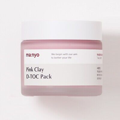 Manyo Factory Pink Clay D-TOC Pack 75ml Whitening Tightening Pore Mask K-Beauty