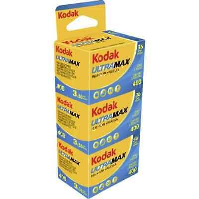 Kodak Ultra Max 400 36 Exposure 35mm color Film - 3 Pack **Fast Free Postage**