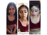 BRIDAL & PARTY hair and makeup artist. Asian bridal make up and hairstylist specialist NATIONWIDE