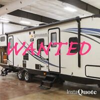 WANTED!! Family camper trailer with outdoor kitchen and bunks