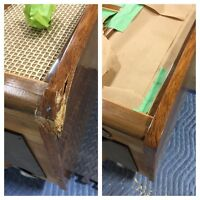 Custom staining and touch up repair