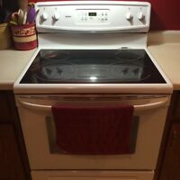 White smooth-top Kenmore range for sale