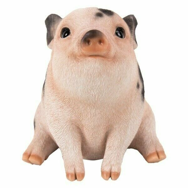 Pacific Giftware PT Realistic Look Statue Farm Baby Pig Piglet Sitting Home