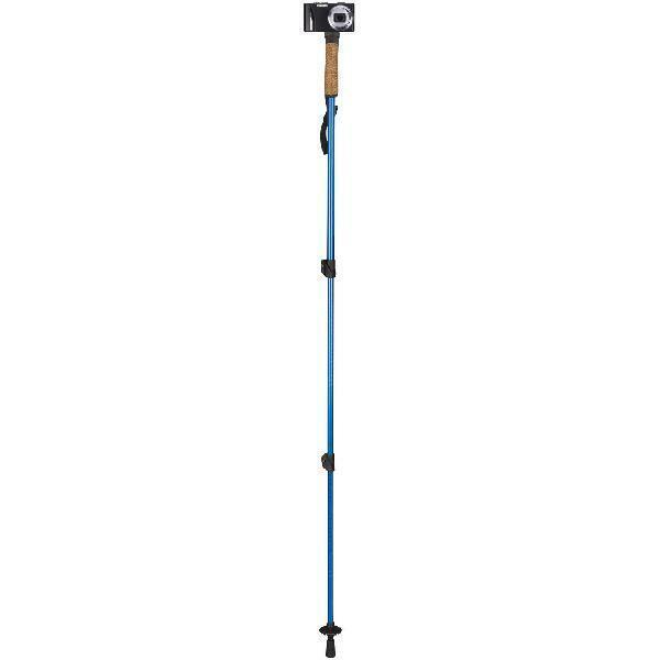 Blue Selfie Stick Monopod Trekking Walking Hiking Pole Outdo
