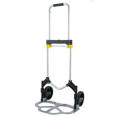 Cart Folding Hand Truck Dolly Push Collapsible Trolley Luggage Aluminium 330lb