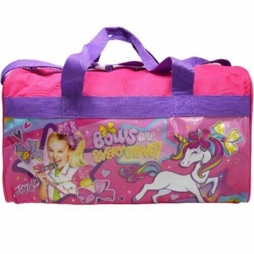 Jojo Siwa 600D Polyester Duffle Bag with Printed PVC Side Panels