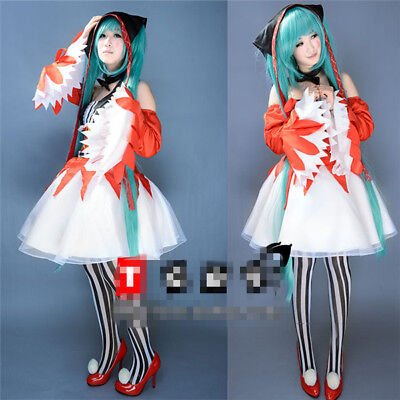 Vocaloid Hatsune Miku Clown Dress Lolita Christmas Cosplay Costume halloween cos