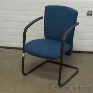 Blue Paperclip Guest Side Chair with Arms