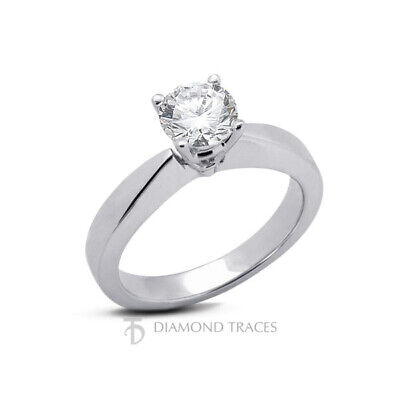 2 1/2ct G SI2 Round Natural Diamond 950 Plat. Solitaire Engagement Ring - $6,025.00