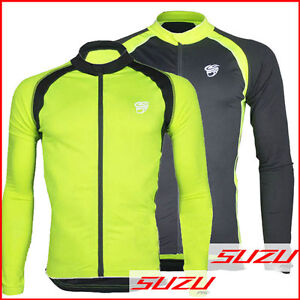 Cycling-Bicycle-Bike-Outdoor-Top-Jersey-Shirt-Long-Sleeve-Full-Zip