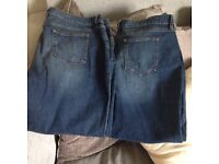 Size 18 jeans and denim jacket