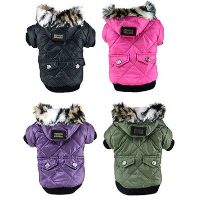 Pet Dog Cat Hoodie Winter Warm Down Coat Clothes Puppy Padded Jacket  Apparel Down Dog Coat