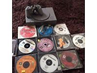 Retro ps1 console bundle with games